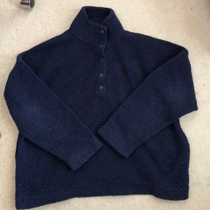 Aerie navy blue sherpa pullover